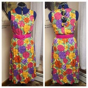 Vintage 1980s Sunshine Starshine floral dress